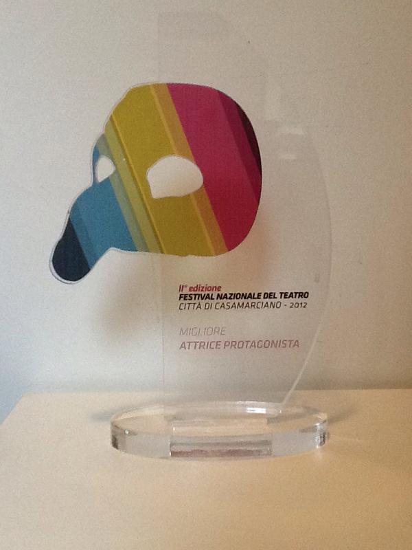 Premio migliore attrice protagonista al festival di Casamarciano (Xanax)