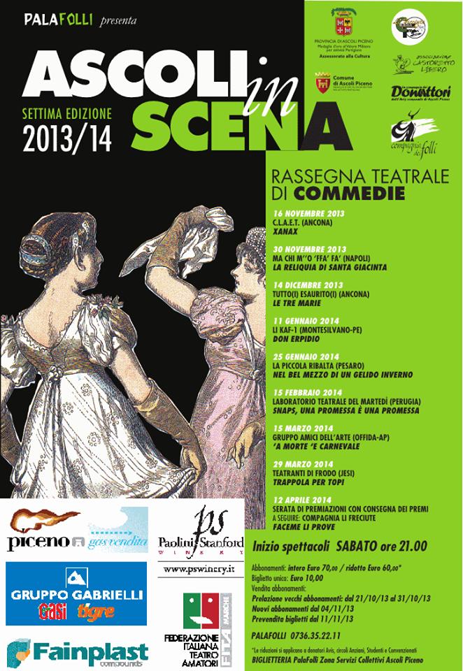 Manifesto Ascoli In scena 2013