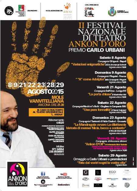 Il teatro ad Ancona c'è. Il manifesto dell'Ankon d'oro premio Carlo Urbani.