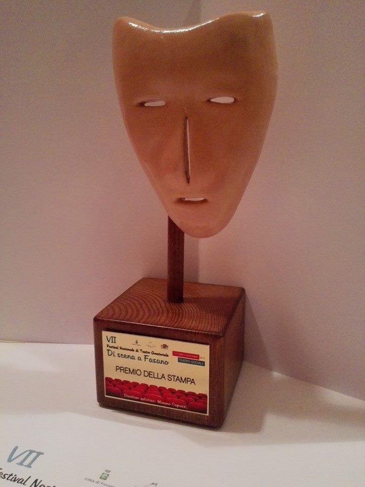"""Premio della stampa alla VII edizione del """"Di scena a Fasano"""" (Br) (Oh Dio mio!)"""