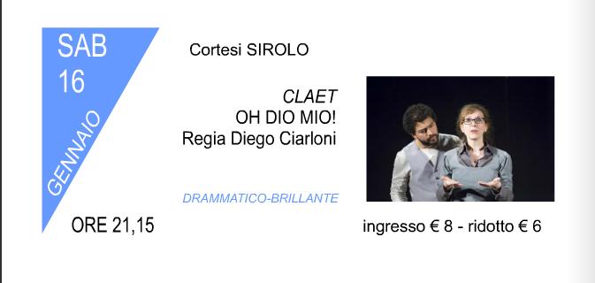 In scena al teatro Cortesi di Sirolo sabato 16 gennaio con Oh Dio mio!