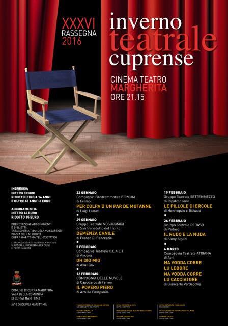 """""""Oh Dio Mio!"""" di Anat Gov continua la tournée nelle Marche: Cupra Marittima, arriviamo!"""