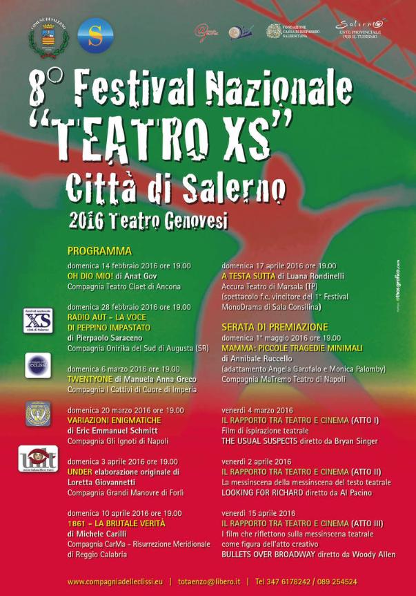 Oh Dio Mio! Siamo al festival Teatro XS di Salerno!
