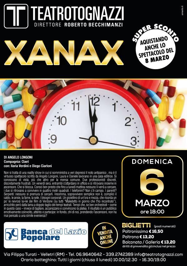 Xanax sul palcoscenico del teatro Tognazzi di Velletri