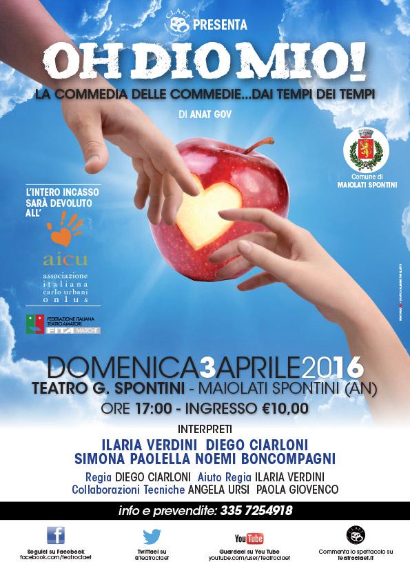 Al teatro G. Spontini il 3 aprile alle ore 17:00 in scena la Pace per la Pace.
