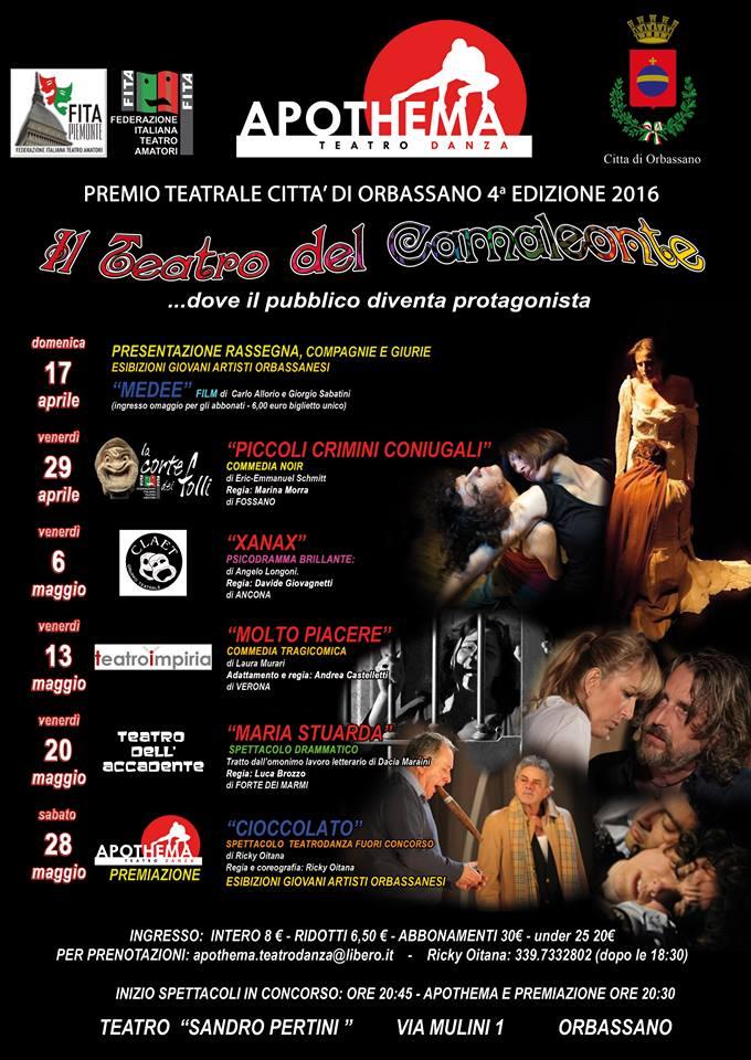 """Xanax al premio """"Camaleonte"""" di Orbassano (TO)"""