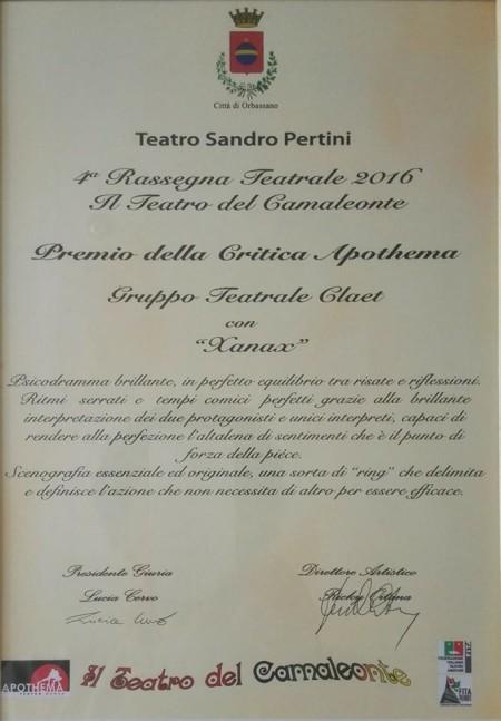 Premio della critica Apothema
