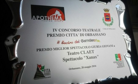 """Premio della giuria giovani del festival """"Camaleonte"""" di Orbassano. (Xanax)"""