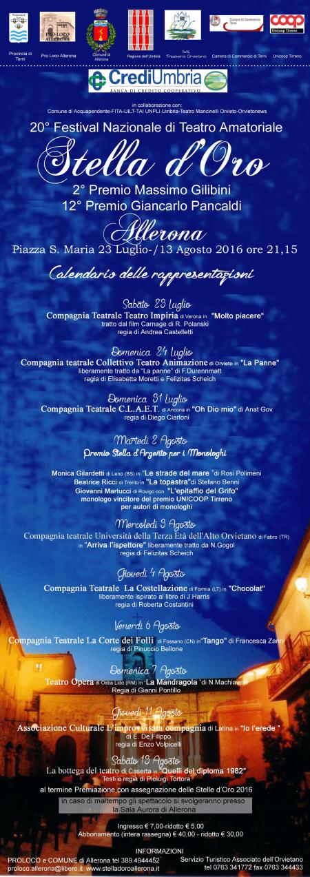 """""""Oh Dio mio!""""… si torna ad Allerona al festival Stella d'oro!"""