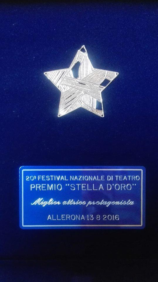 Premio miglior attrice protagonista alla XX Stella d'oro di Allerona (TR) (Oh Dio mio!)