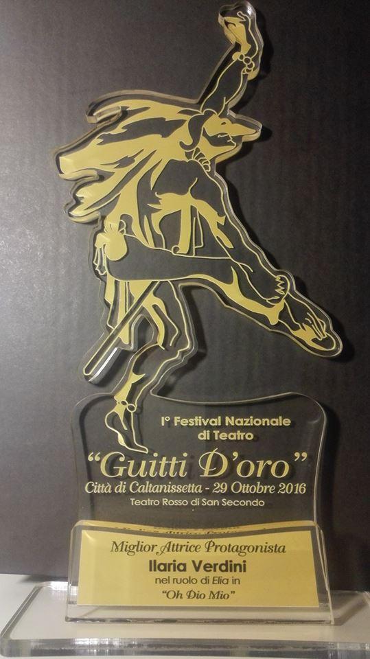 Premio miglior attrice protagonista al I Festival nazionale di teatro di Caltanissetta (Oh Dio mio!)