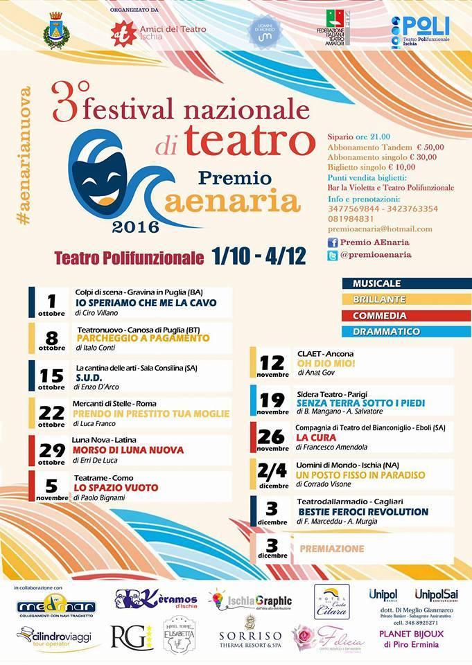 """Commenti del pubblico del teatro polifunzionale di Ischia (premio Aenaria) al nostro spettacolo """"Oh Dio mio!"""""""