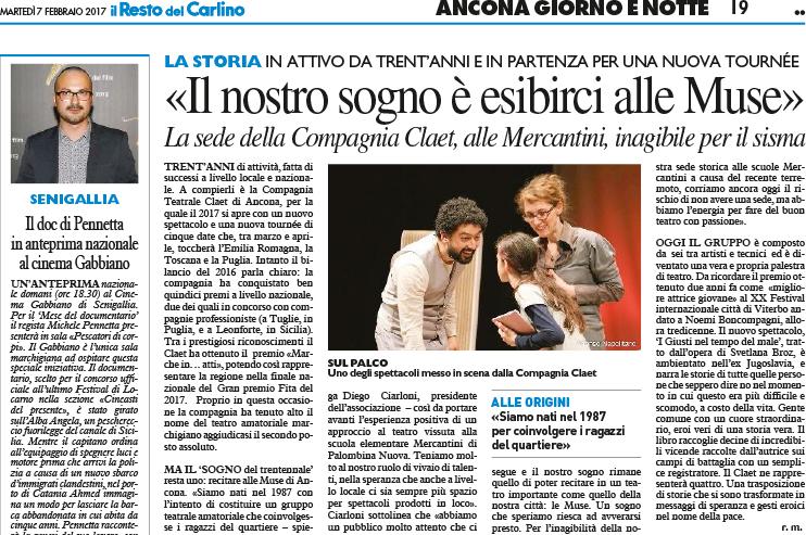 """Il nostro sogno è esibirci al teatro delle Muse di Ancona. Via """"Il resto del Carlino"""""""