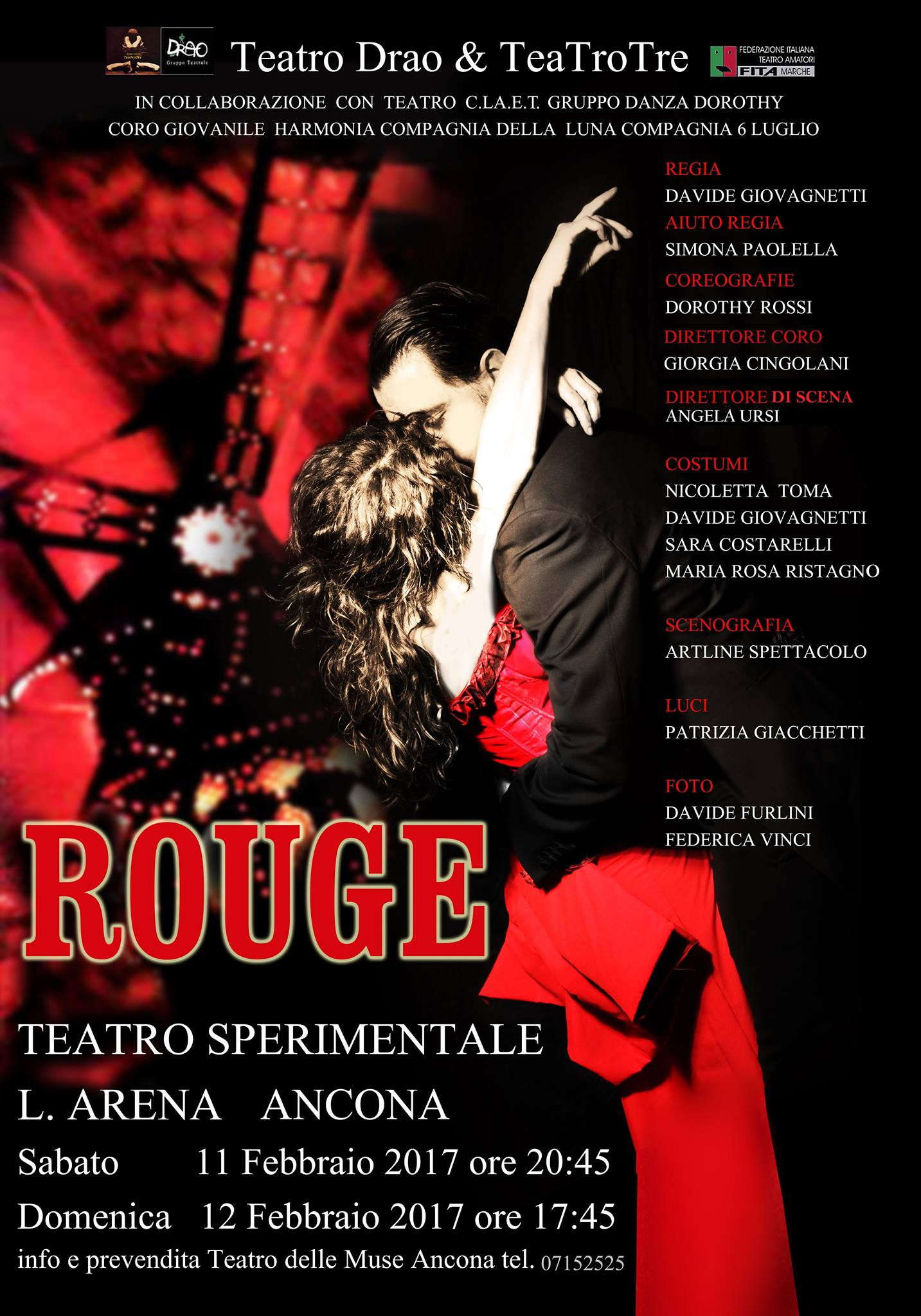 Rouge. In collaborazione con Teatrotre & teatro Drao.
