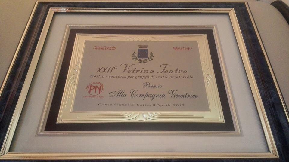 Premio miglior spettacolo alla XXII edizione del Vetrina teatro di Castelfranco di sotto (PI) (Xanax)