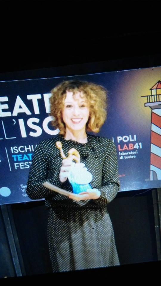 Premio miglior attrice protagonista alla IV edizione del premio Aenaria di Ischia (NA) 2017