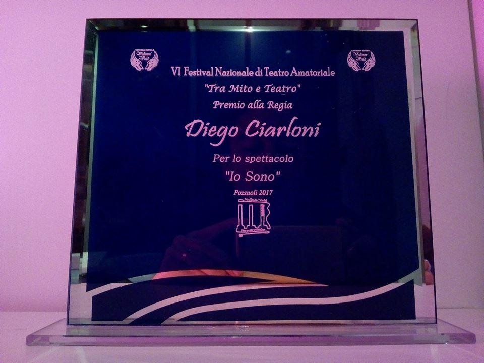 """Premio miglior regia al festival """"Tra mito e teatro"""" di Pozzuoli (NA) 2017"""