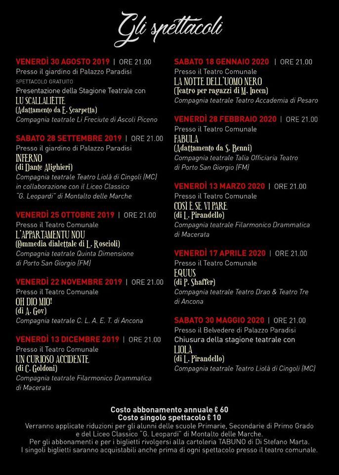 A Montalto Marche il prossimo 15 novembre in scena Oh Dio mio!