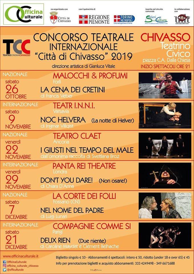 """""""I Giusti nel tempo del Male"""" approdano al concorso teatrale internazionale di Chivasso"""